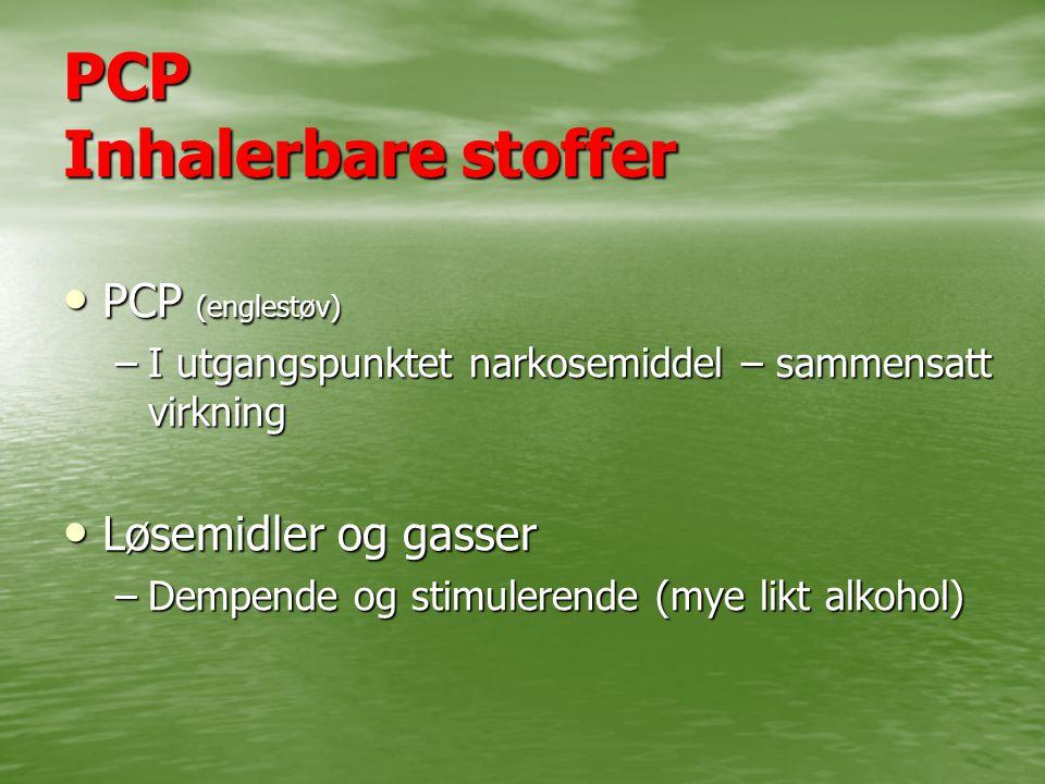 PCP Inhalerbare stoffer