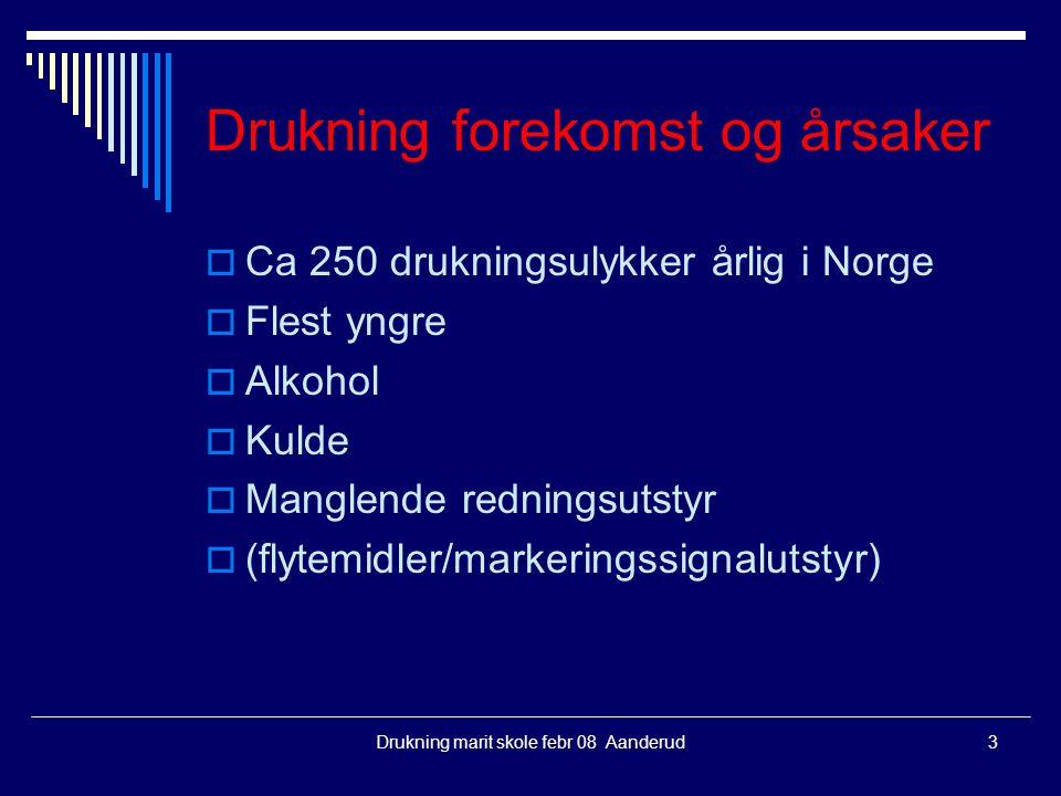 Drukning forekomst og årsaker