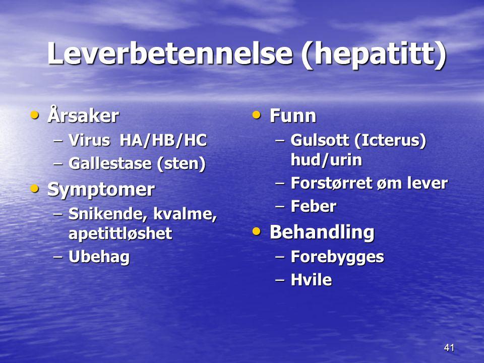 Leverbetennelse (hepatitt)