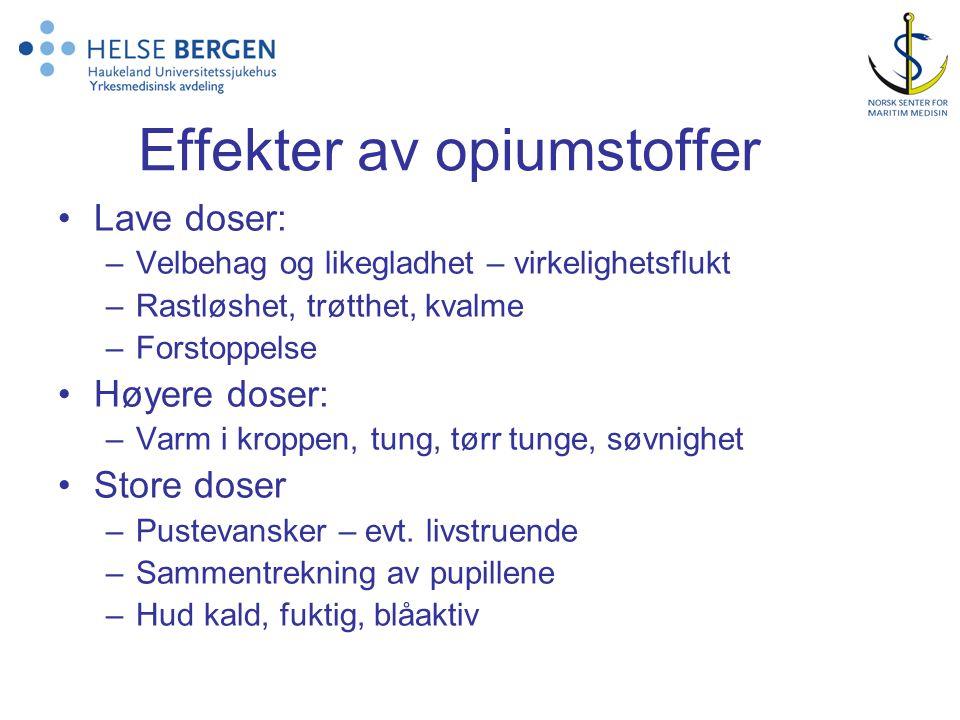 Effekter av opiumstoffer