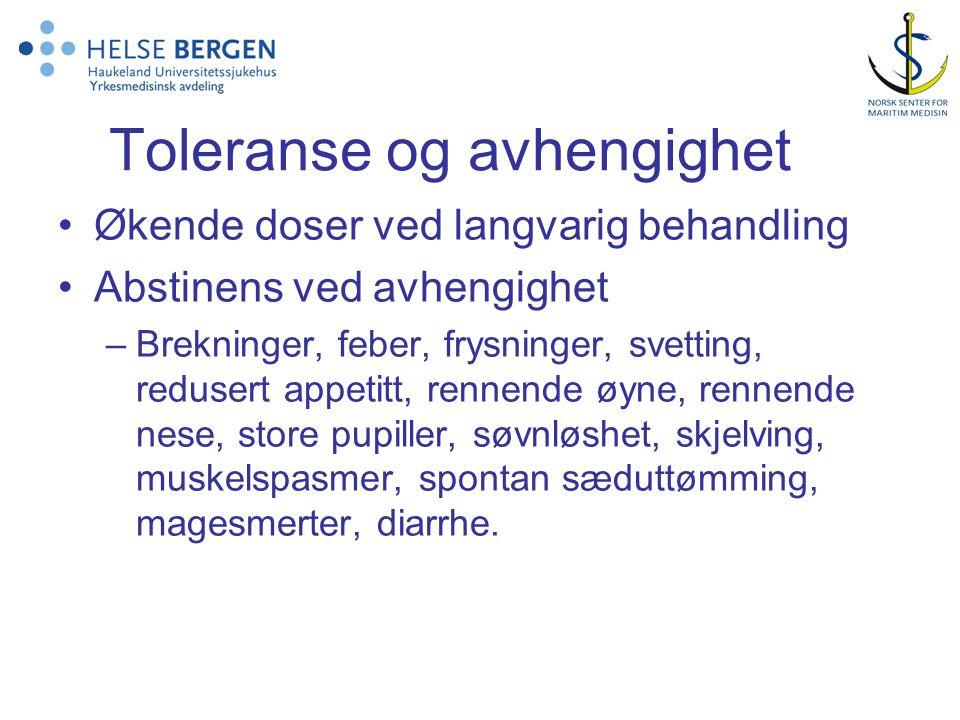 Toleranse og avhengighet