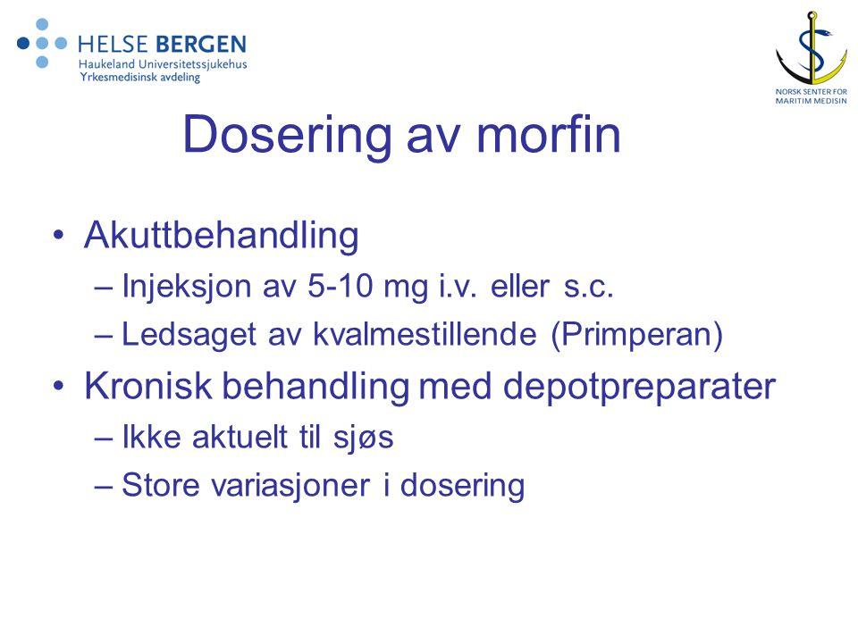 Dosering av morfin Akuttbehandling