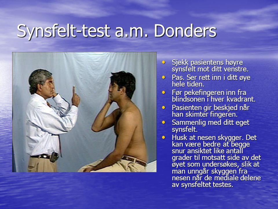 Synsfelt-test a.m. Donders