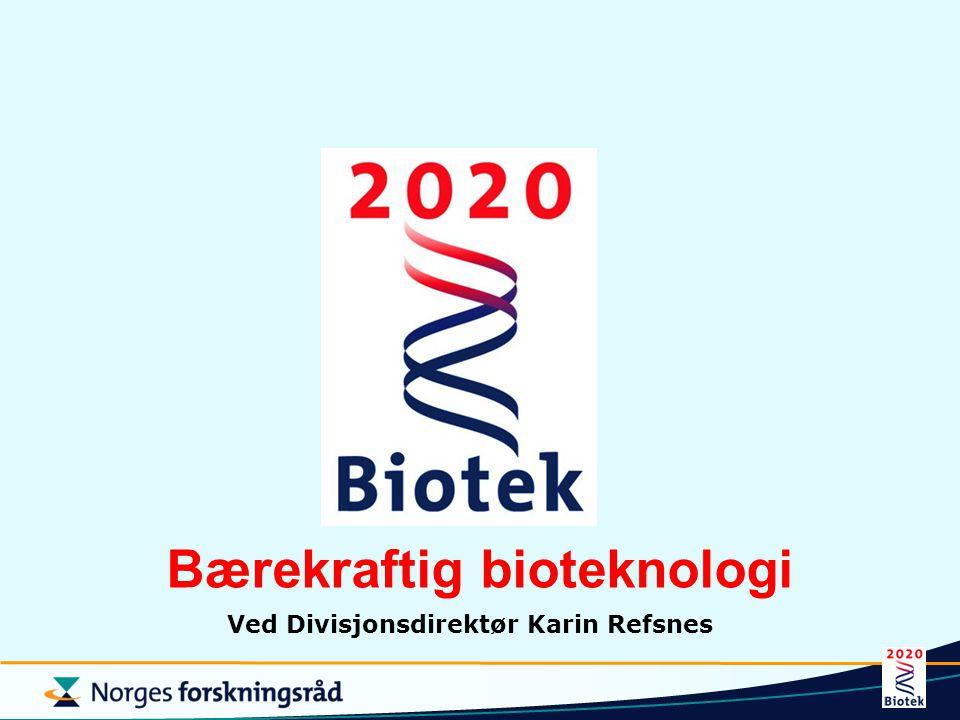 Bærekraftig bioteknologi