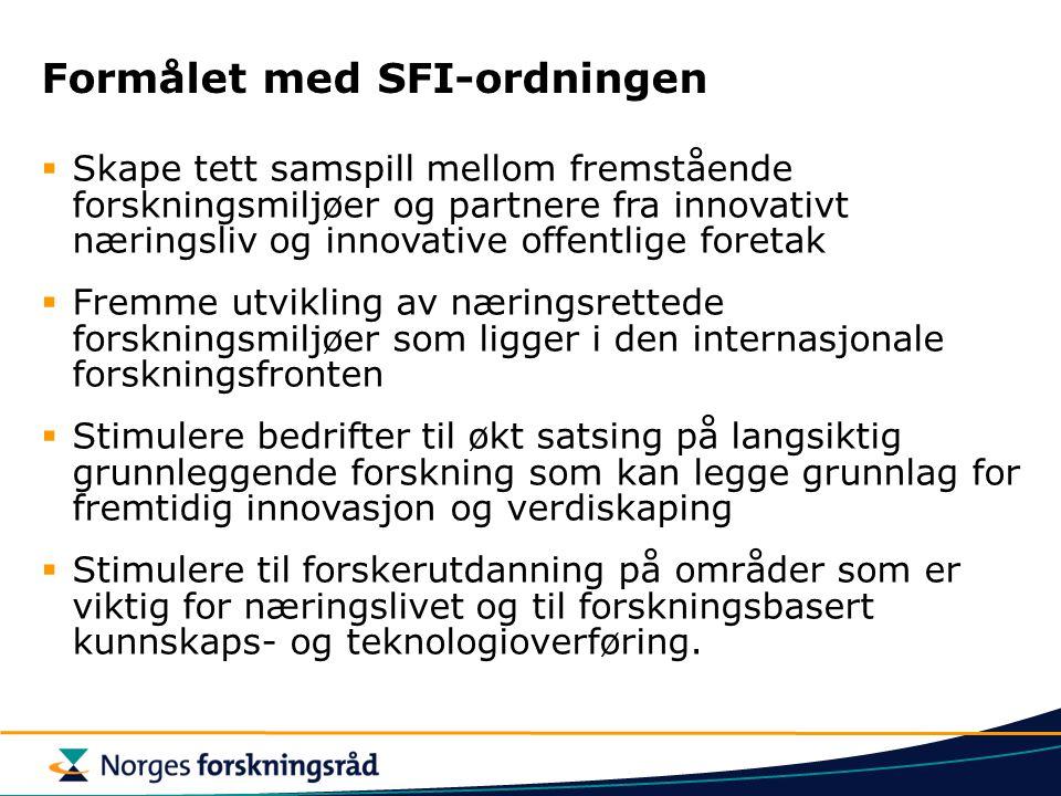 Formålet med SFI-ordningen