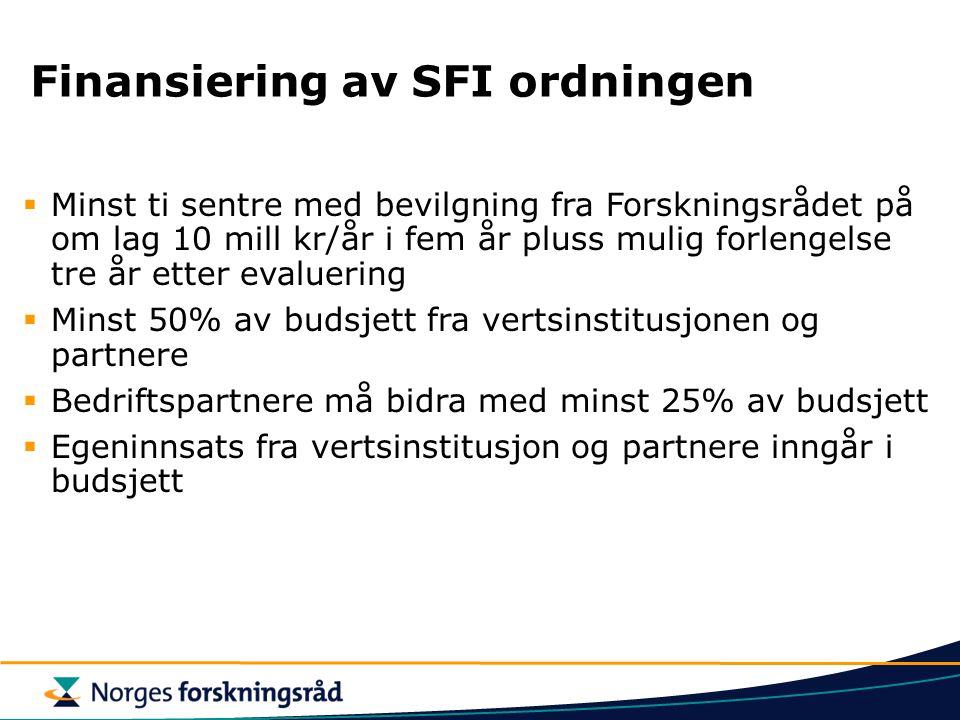 Finansiering av SFI ordningen