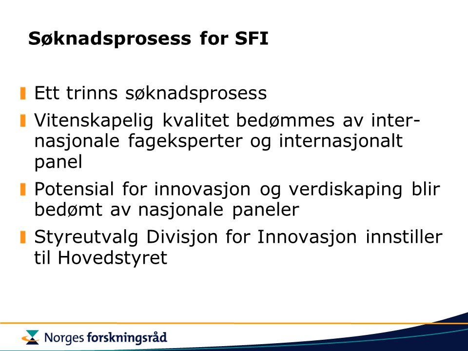 Søknadsprosess for SFI