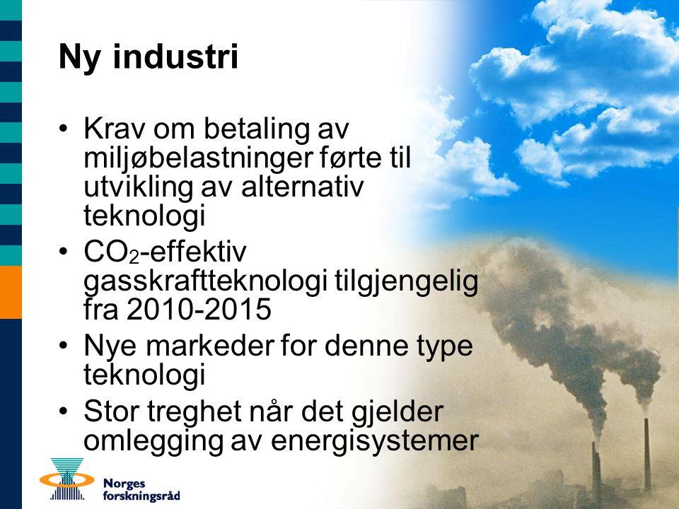 Ny industri Krav om betaling av miljøbelastninger førte til utvikling av alternativ teknologi.