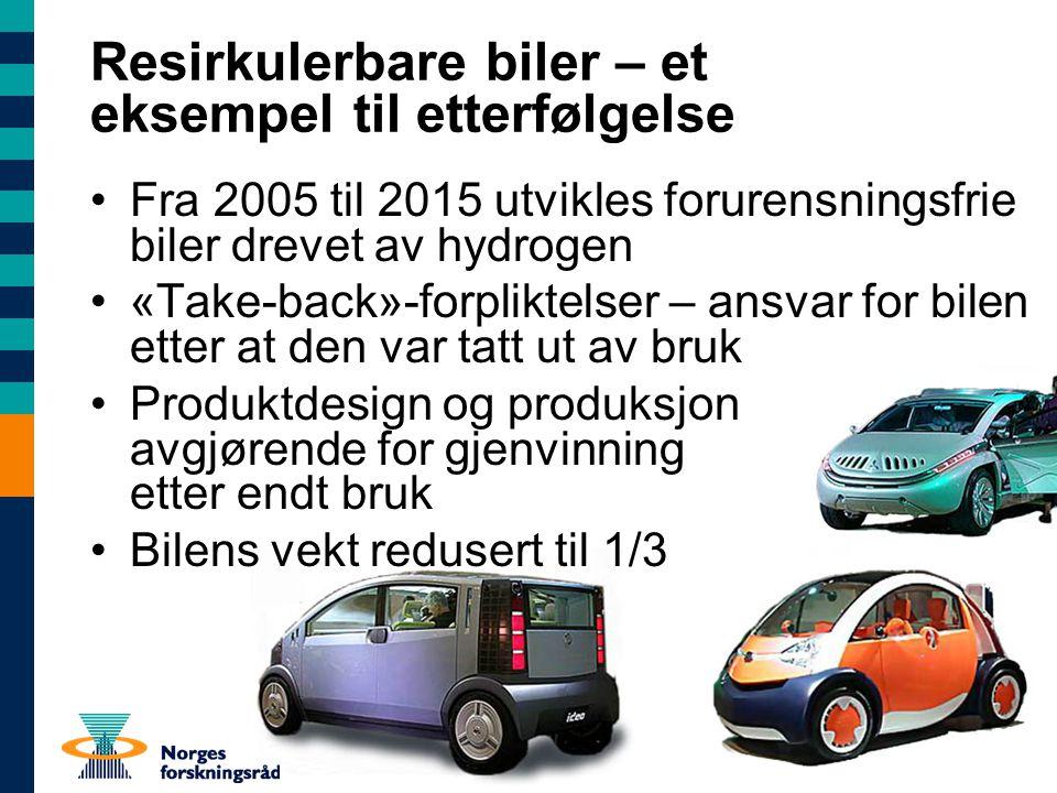 Resirkulerbare biler – et eksempel til etterfølgelse