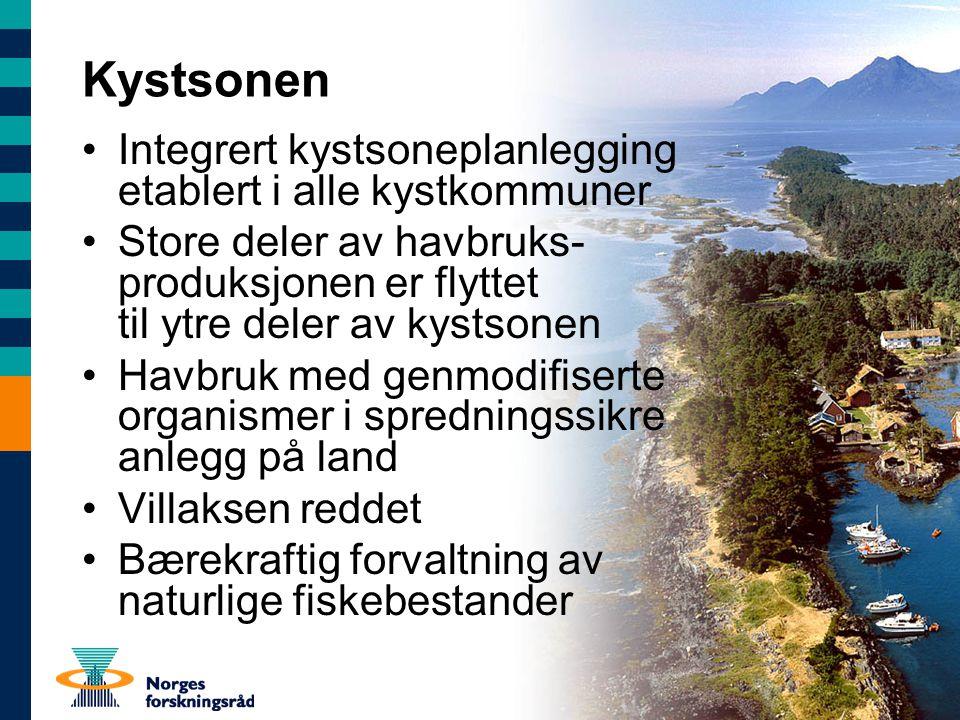 Kystsonen Integrert kystsoneplanlegging etablert i alle kystkommuner