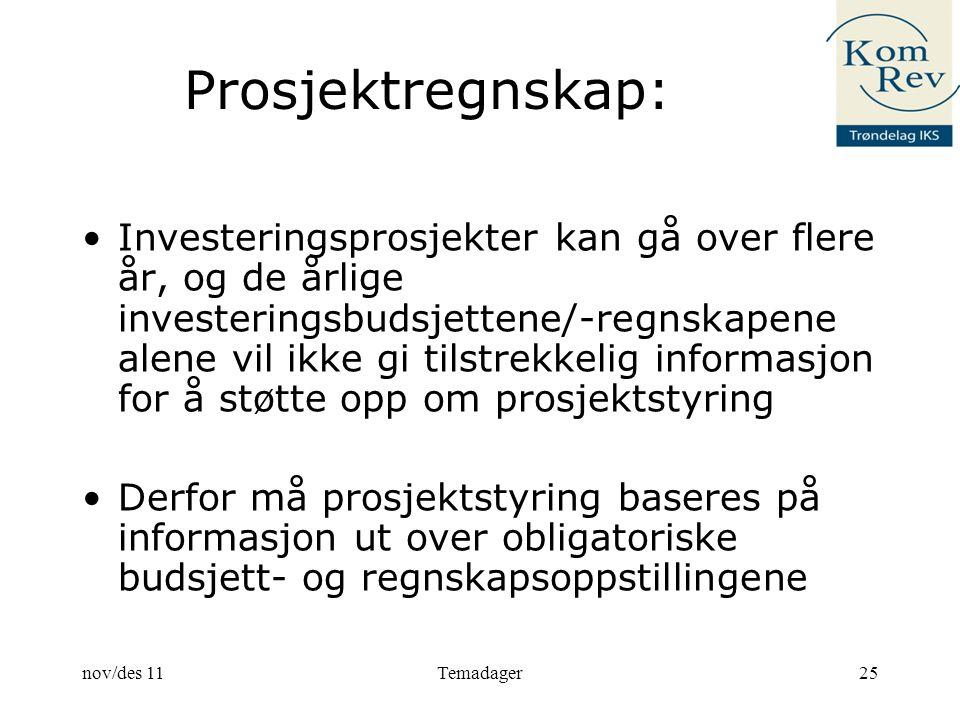 Prosjektregnskap: