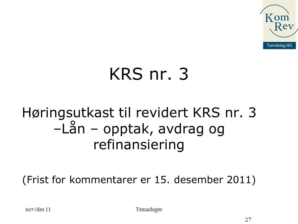 (Frist for kommentarer er 15. desember 2011)