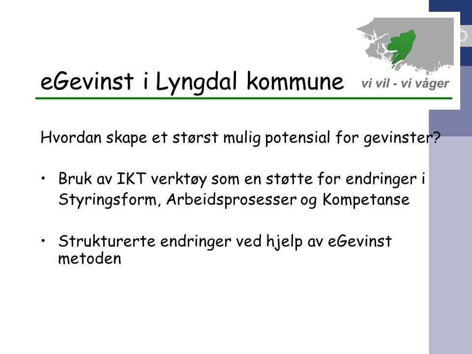 eGevinst i Lyngdal kommune