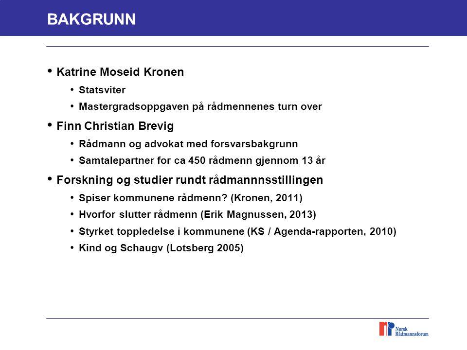 BAKGRUNN Katrine Moseid Kronen Finn Christian Brevig