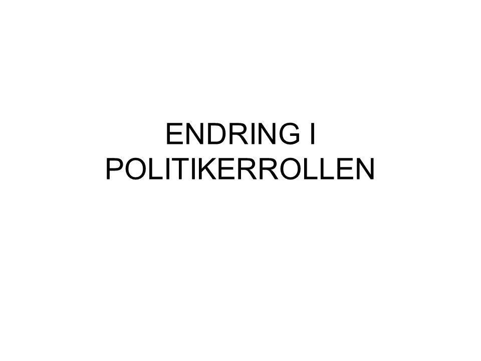 ENDRING I POLITIKERROLLEN
