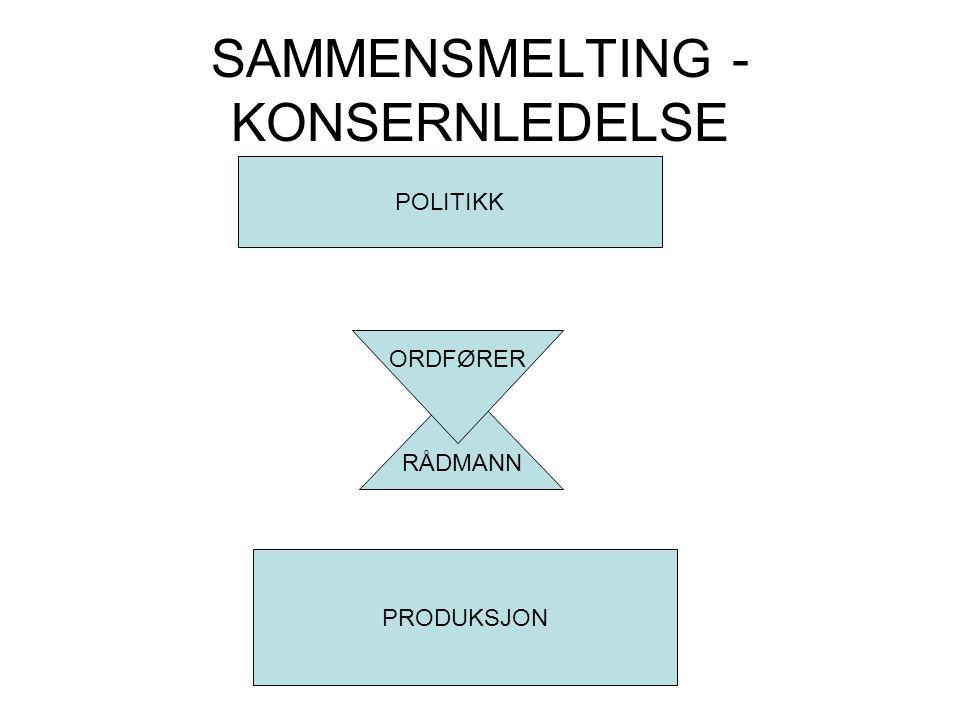 SAMMENSMELTING - KONSERNLEDELSE