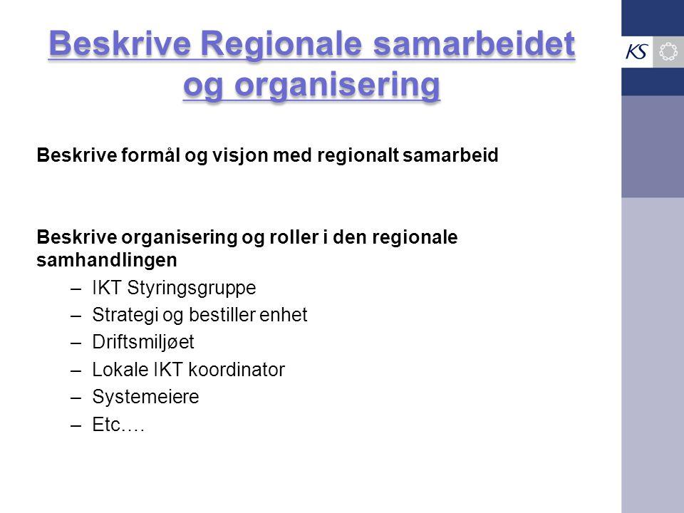 Beskrive Regionale samarbeidet og organisering