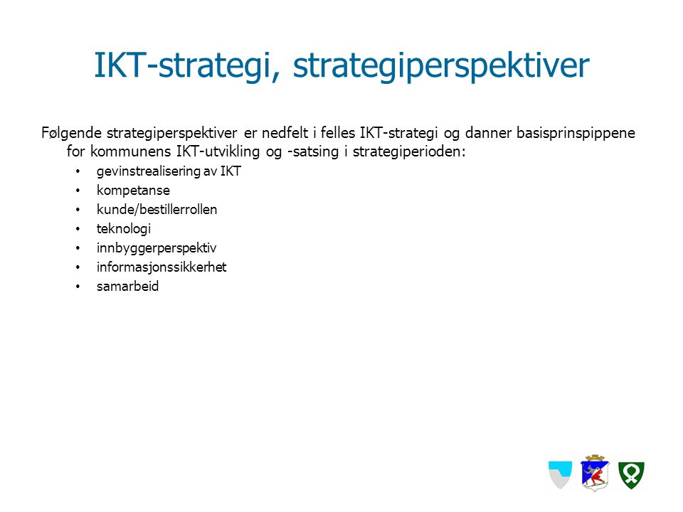 IKT-strategi, strategiperspektiver