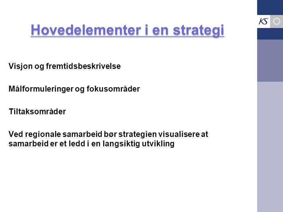 Hovedelementer i en strategi