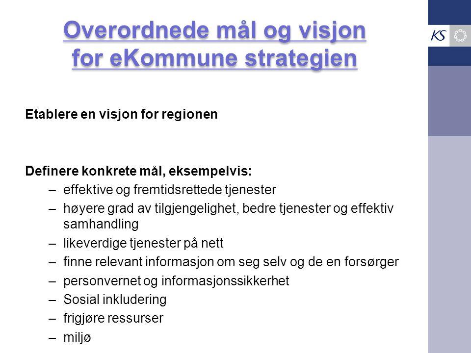 Overordnede mål og visjon for eKommune strategien