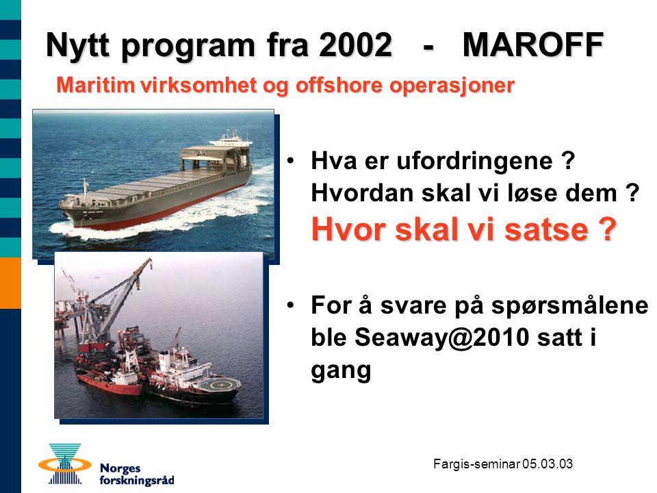 Nytt program fra 2002 - MAROFF