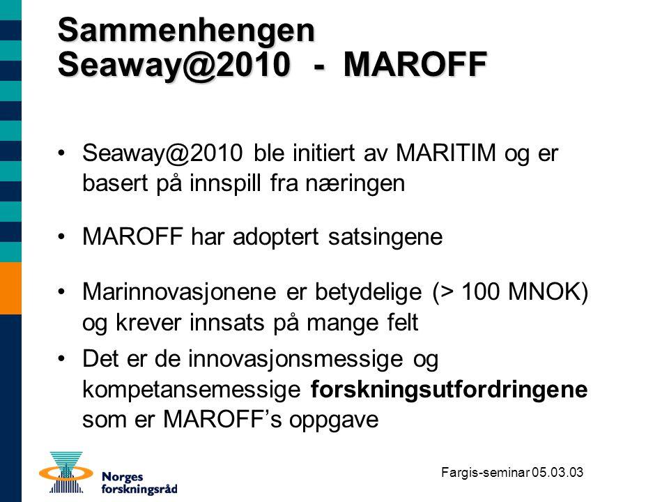 Sammenhengen Seaway@2010 - MAROFF