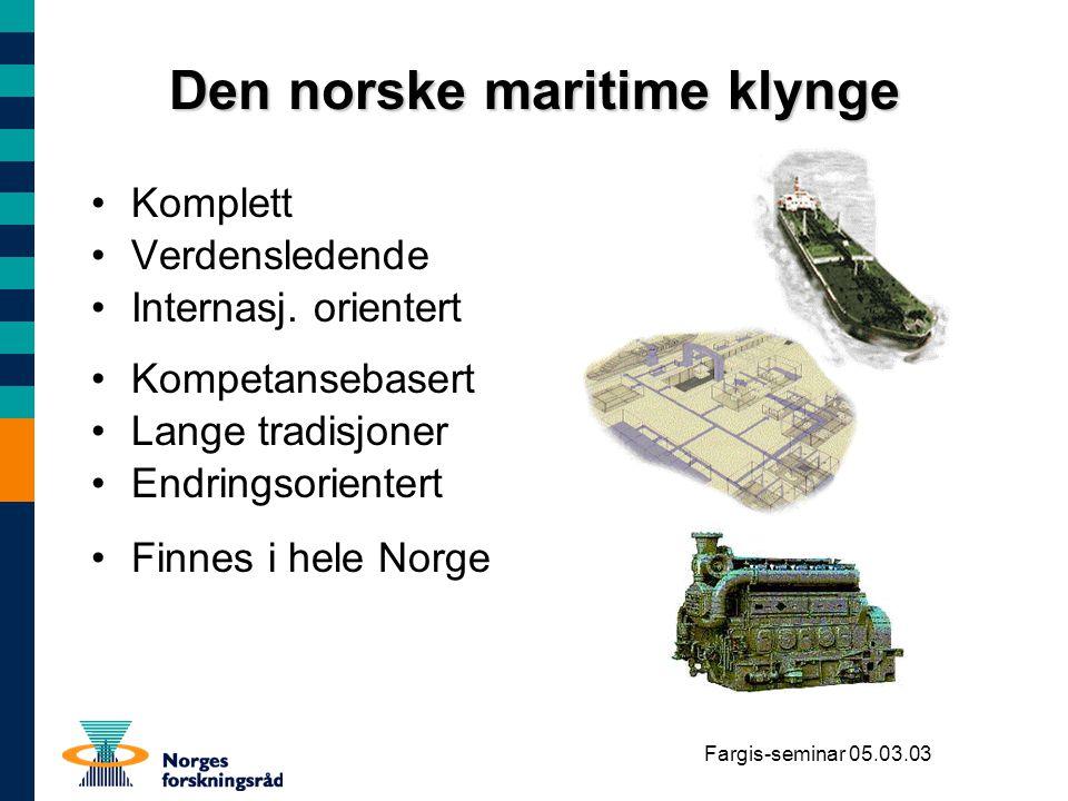 Den norske maritime klynge