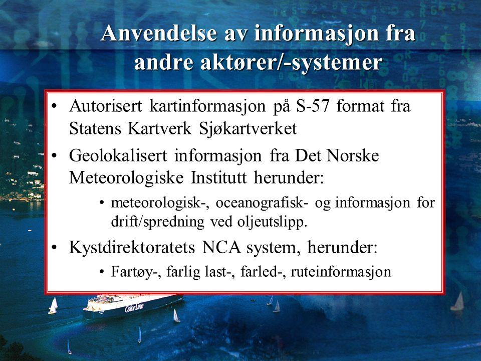 Anvendelse av informasjon fra andre aktører/-systemer