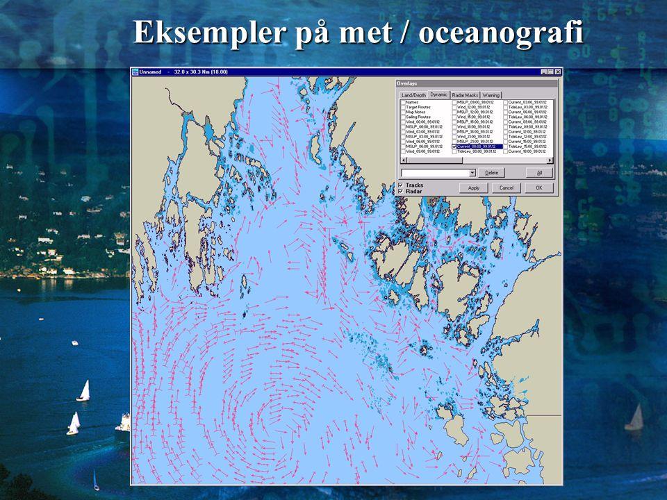 Eksempler på met / oceanografi