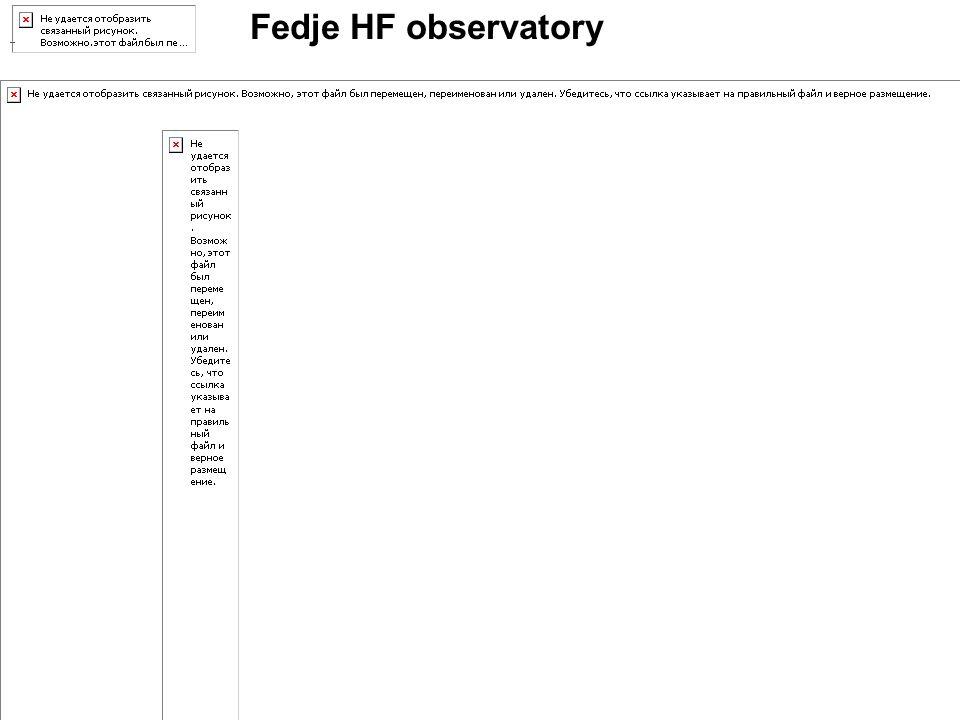 Fedje HF observatory.