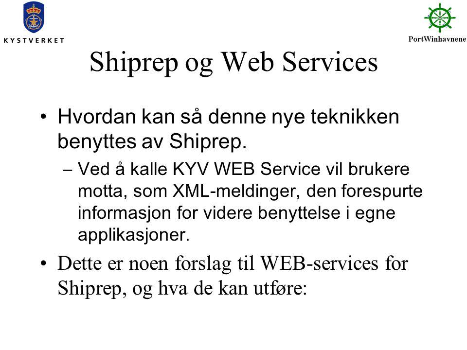 Shiprep og Web Services