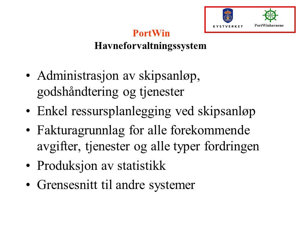 PortWin Havneforvaltningssystem