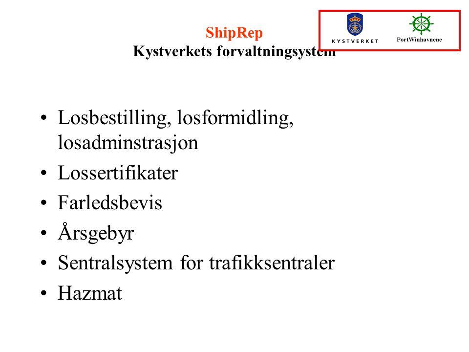 ShipRep Kystverkets forvaltningsystem