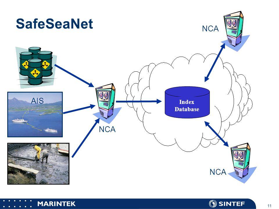 SafeSeaNet NCA AIS NCA NCA Index Database