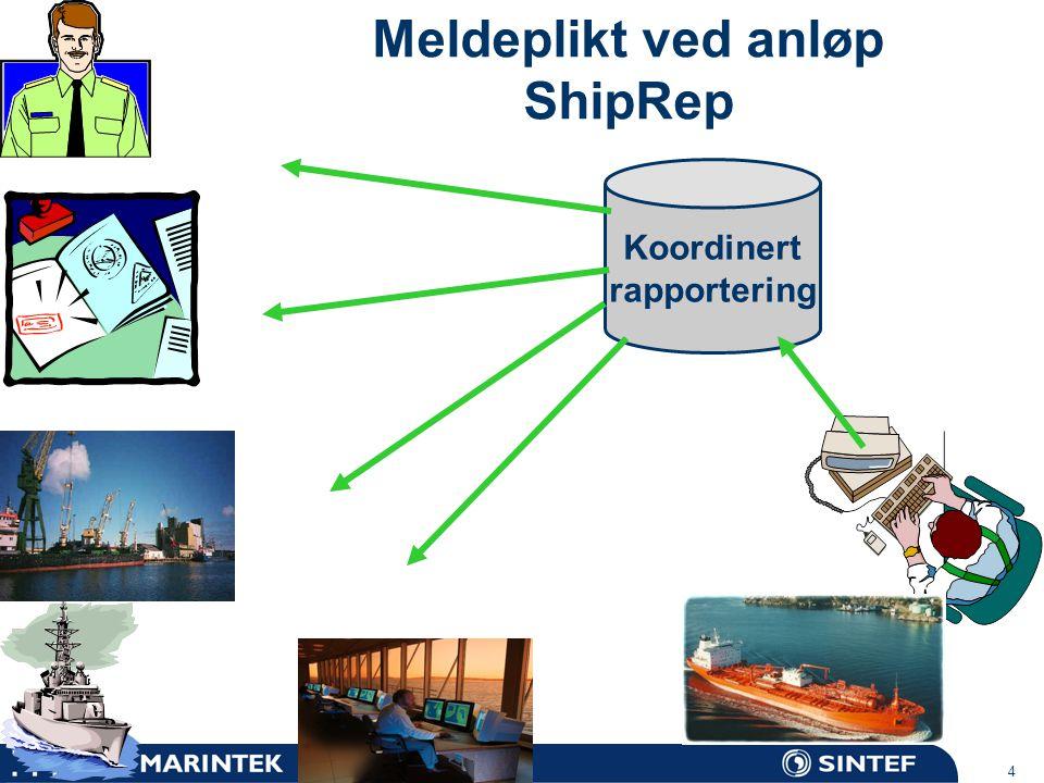 Meldeplikt ved anløp ShipRep