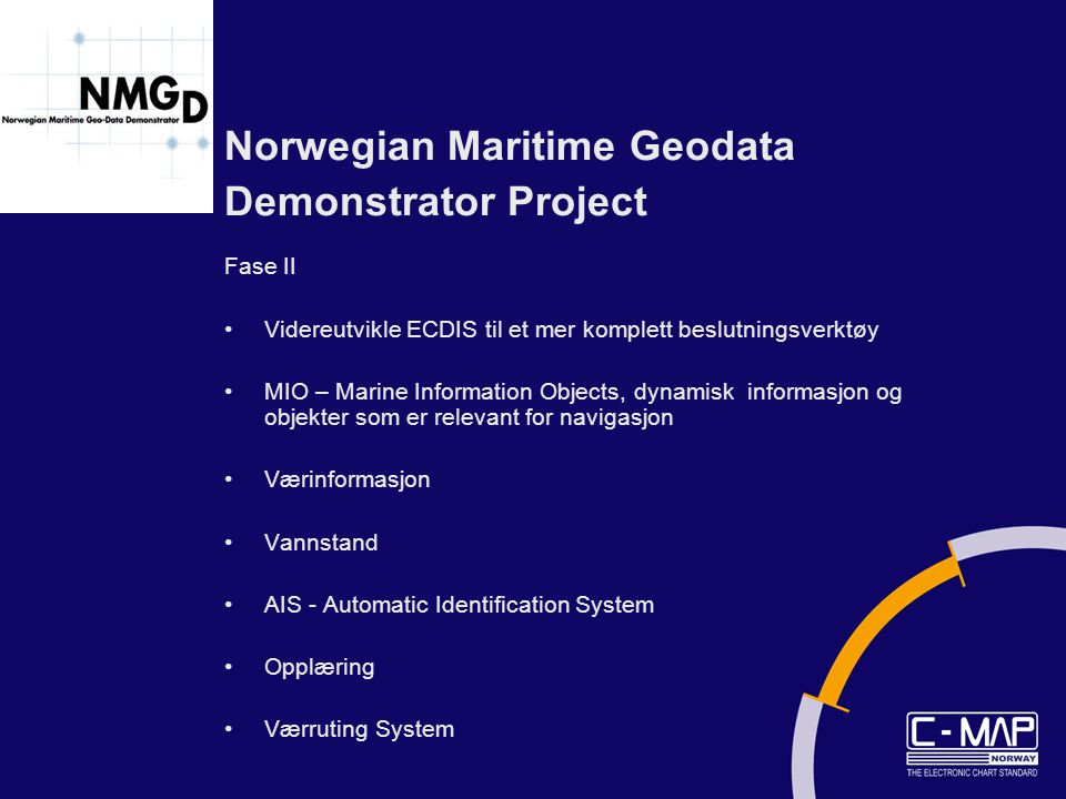 Norwegian Maritime Geodata Demonstrator Project