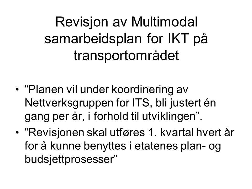 Revisjon av Multimodal samarbeidsplan for IKT på transportområdet