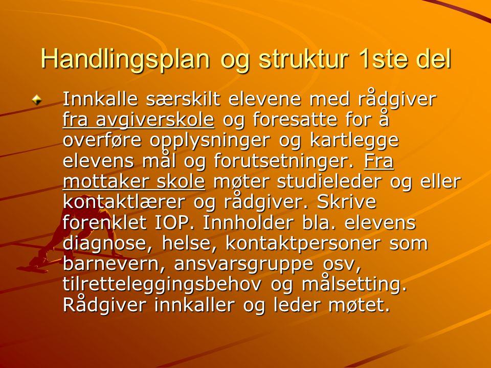 Handlingsplan og struktur 1ste del