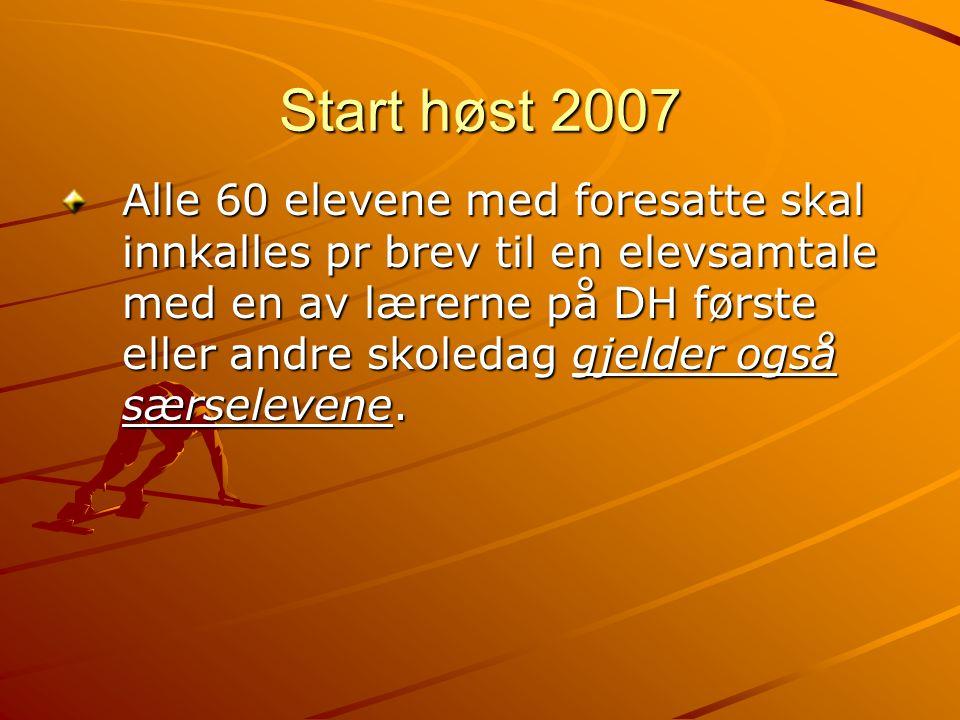 Start høst 2007