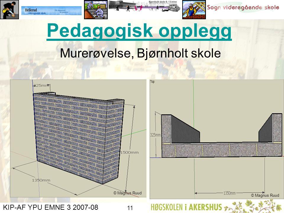 Pedagogisk opplegg Murerøvelse, Bjørnholt skole © Magnus Ruud