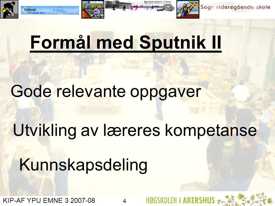 Formål med Sputnik II Gode relevante oppgaver