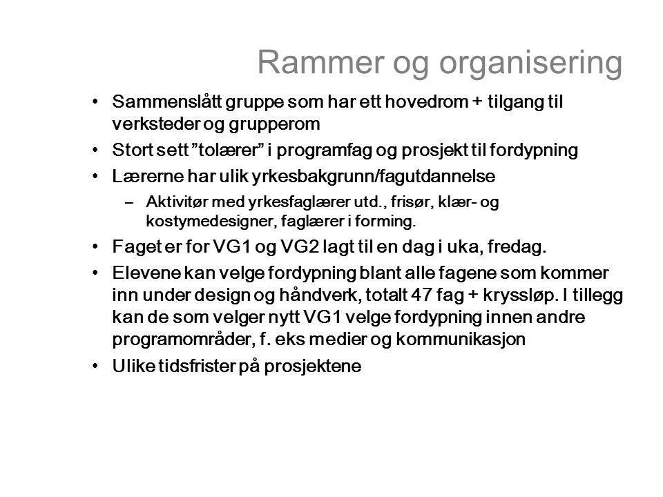 Rammer og organisering