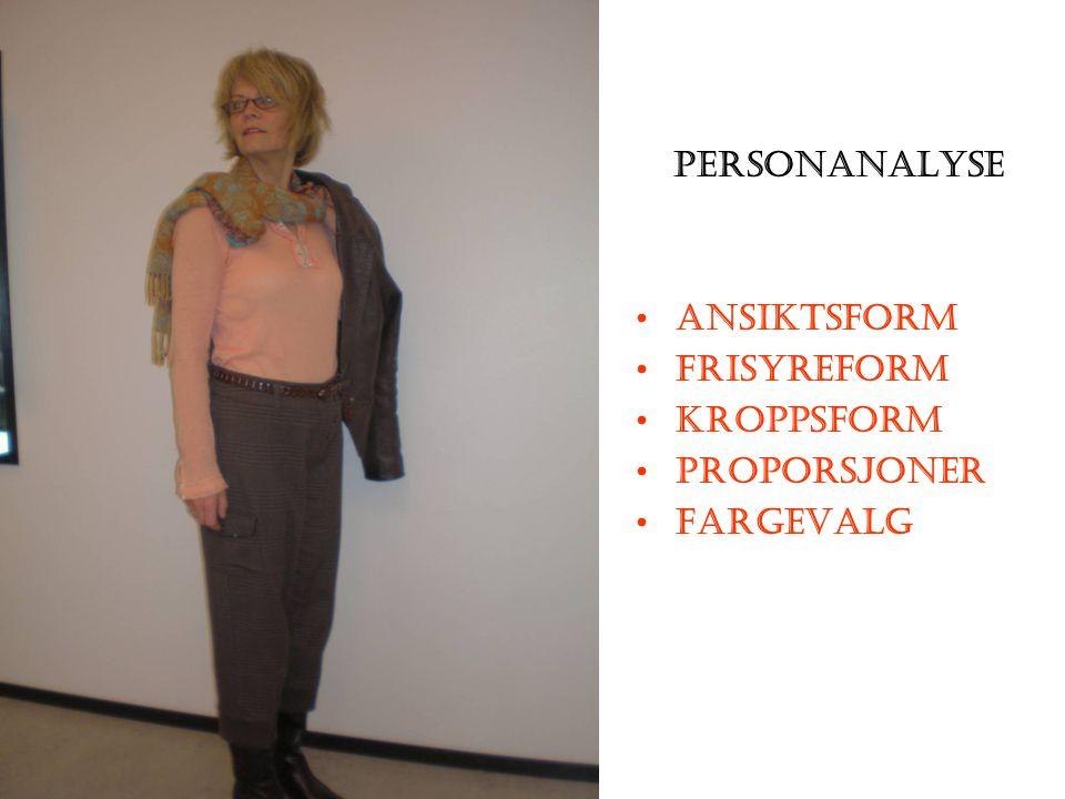 Personanalyse Ansiktsform Frisyreform Kroppsform Proporsjoner