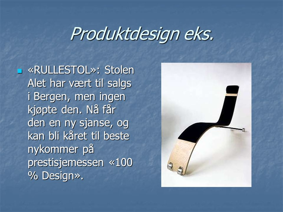 Produktdesign eks.