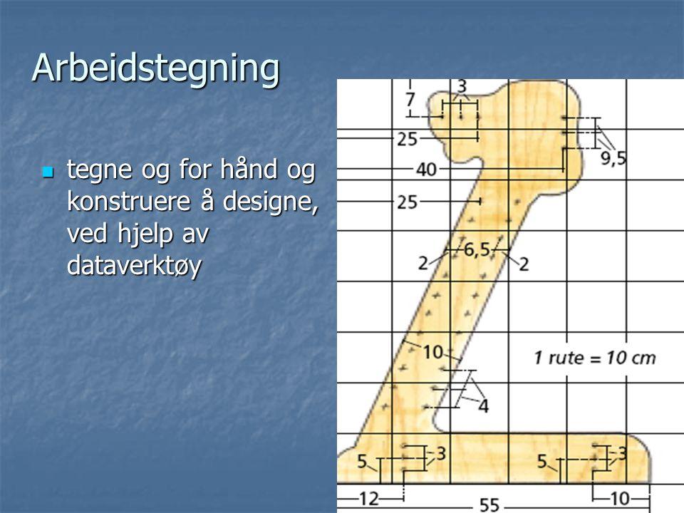 Arbeidstegning tegne og for hånd og konstruere å designe, ved hjelp av dataverktøy.