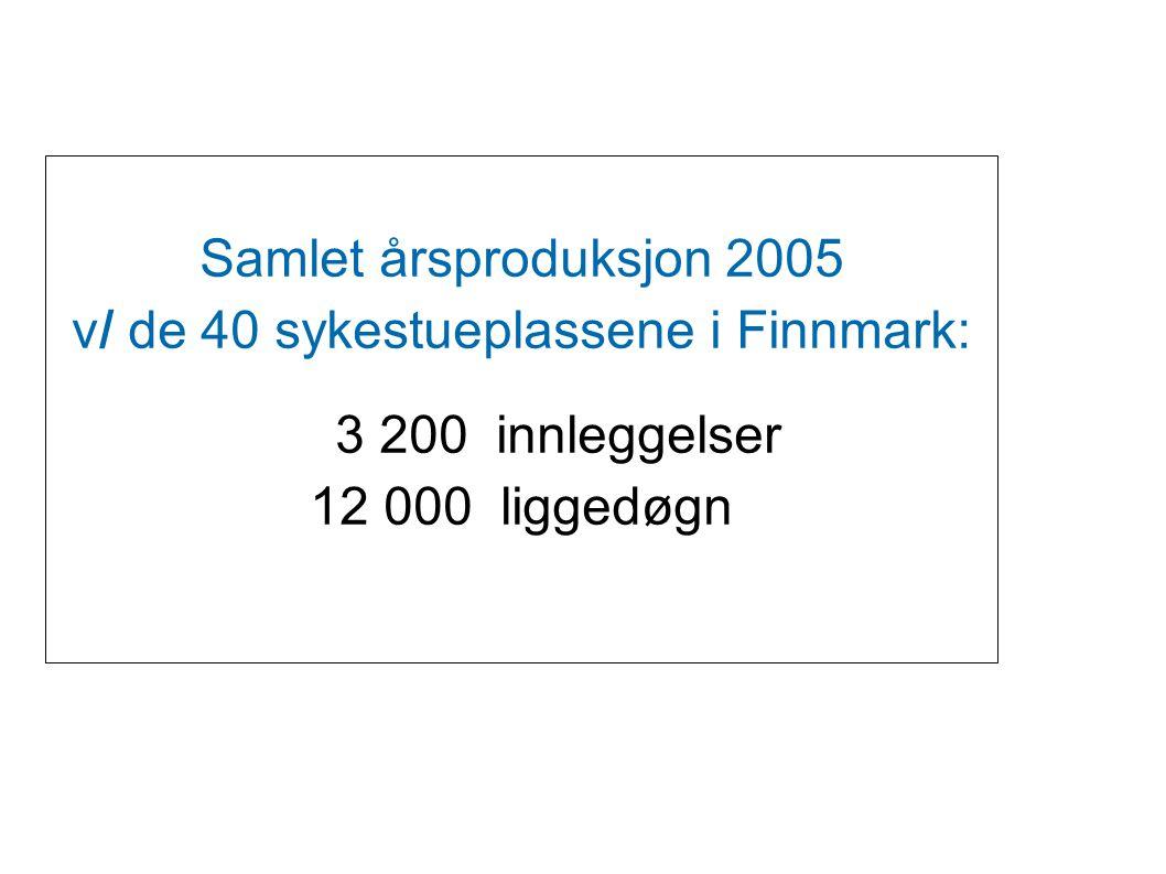 v/ de 40 sykestueplassene i Finnmark: