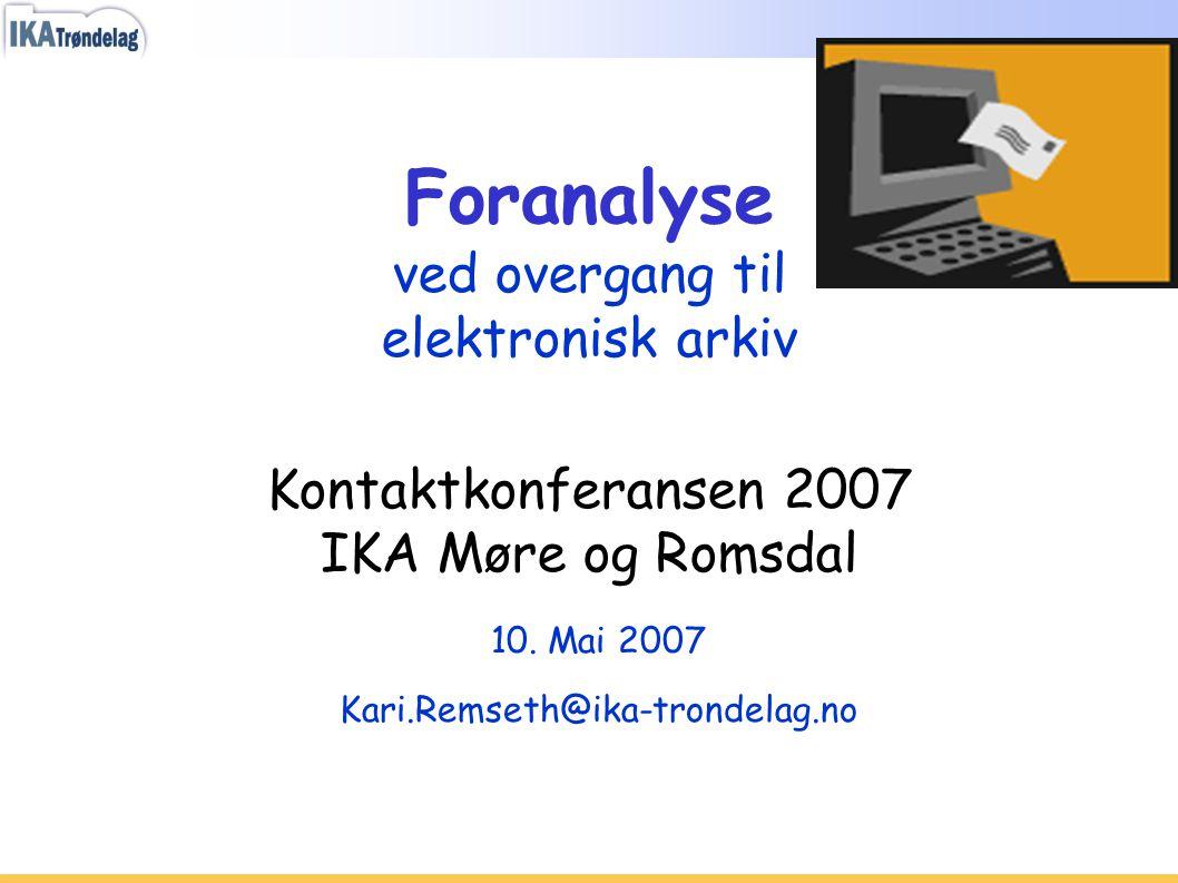10. Mai 2007 Kari.Remseth@ika-trondelag.no