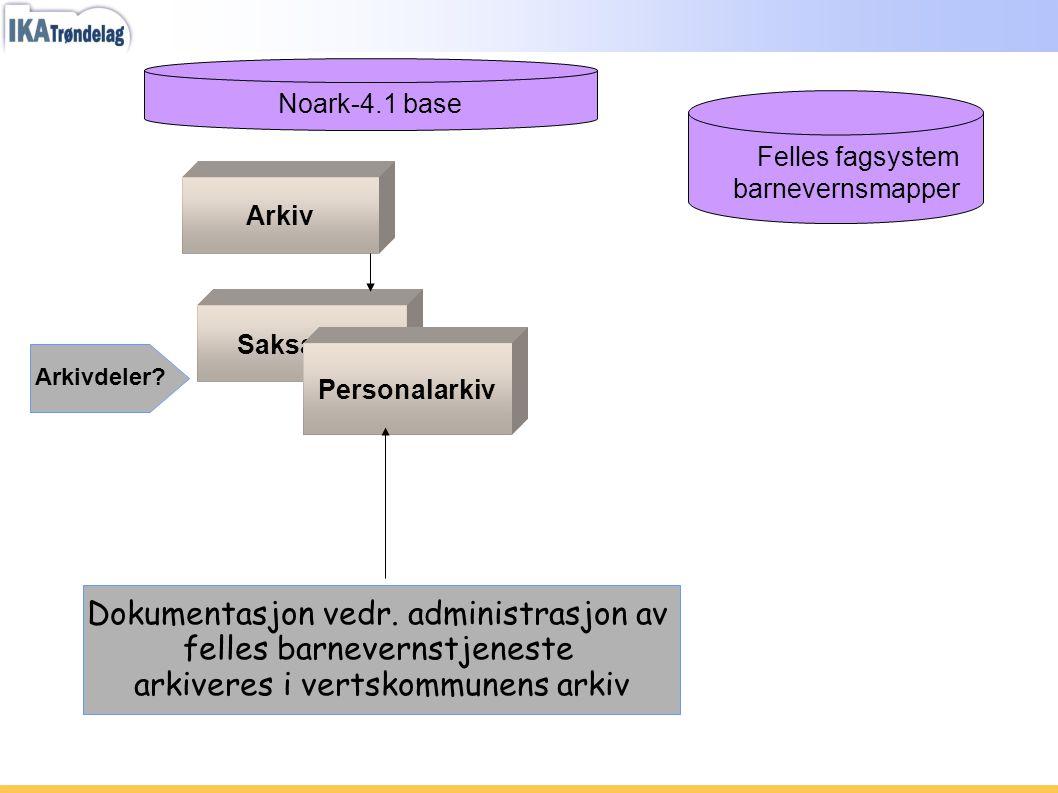 Dokumentasjon vedr. administrasjon av felles barnevernstjeneste