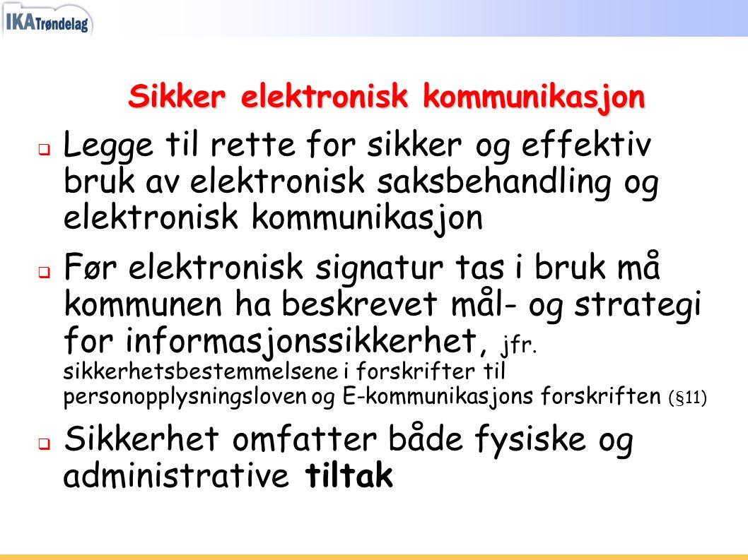 Sikker elektronisk kommunikasjon