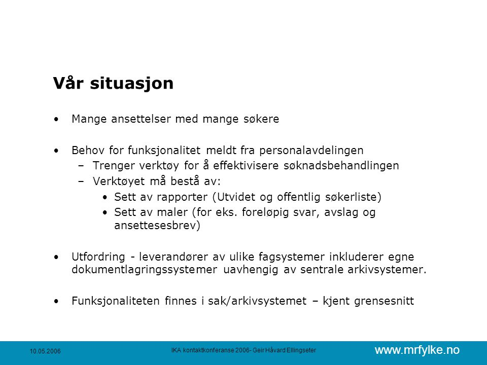 IKA kontaktkonferanse 2006- Geir Håvard Ellingseter